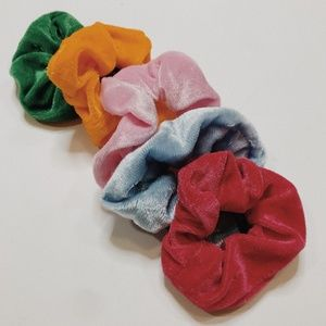 • URBAN OUTFITTERS • colorful velvet scrunchies